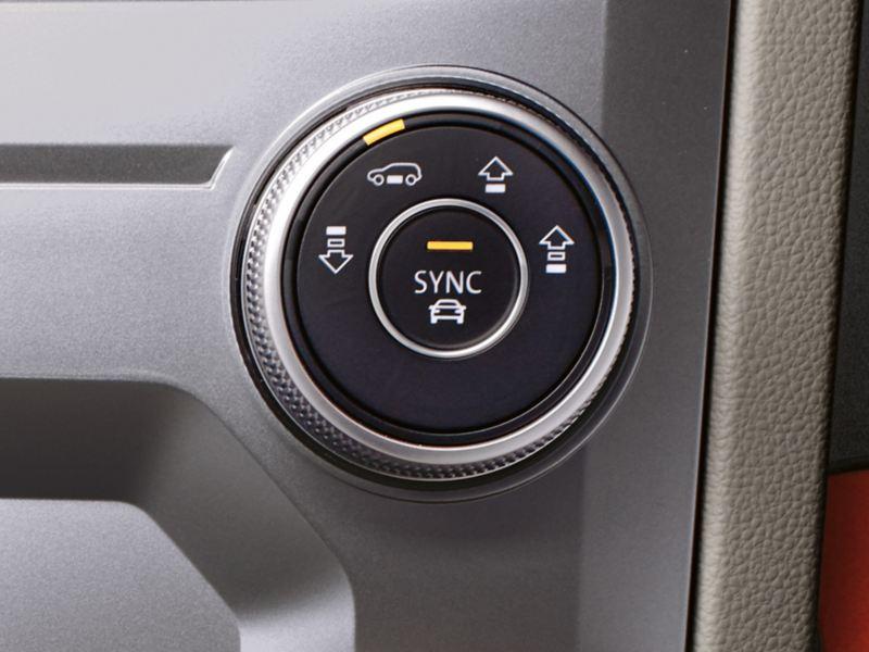 Bouton suspension pneumatique dans le VW Touareg