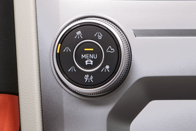 Driving mode selection switch in the VW Touareg