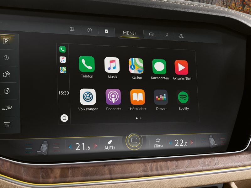 The app connect screen on the infotainment system on Volkswagen Touareg