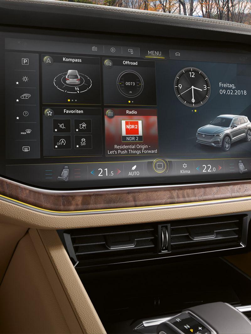 Navigasjon i Volkswagen Touareg
