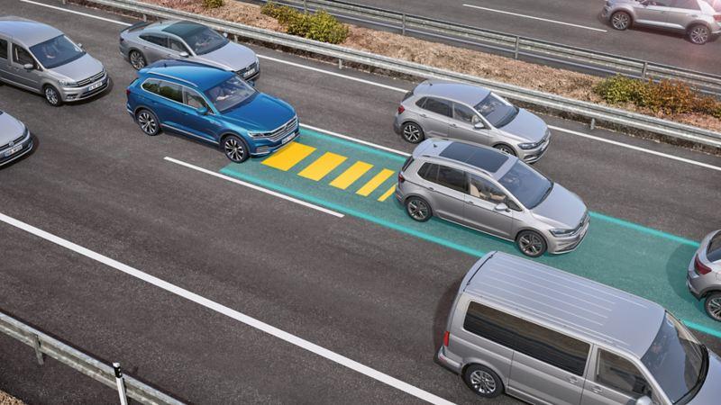 Volkswagen køassistent førerassistentsystem Touareg