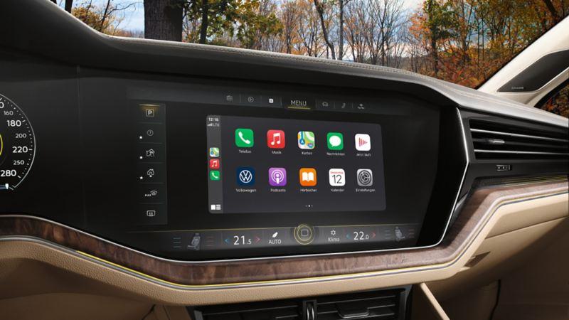 Display vom Navigationssystem «Discover Premium»