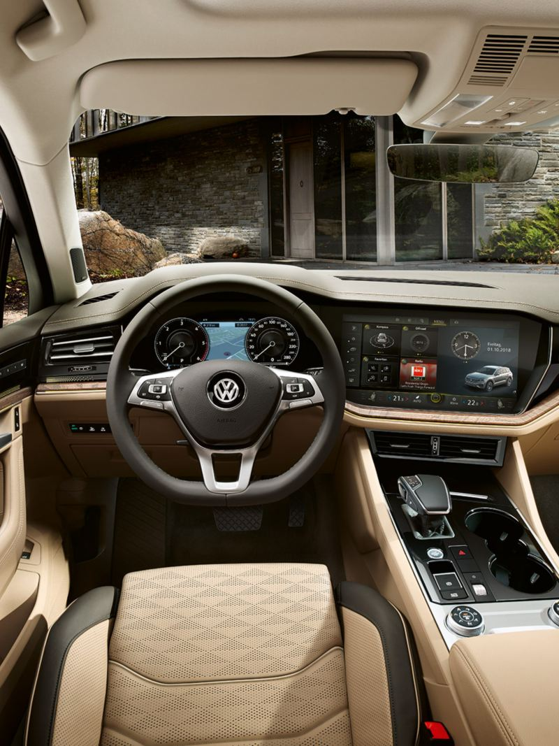 Touareg interior with focus on Innovion Cockpit