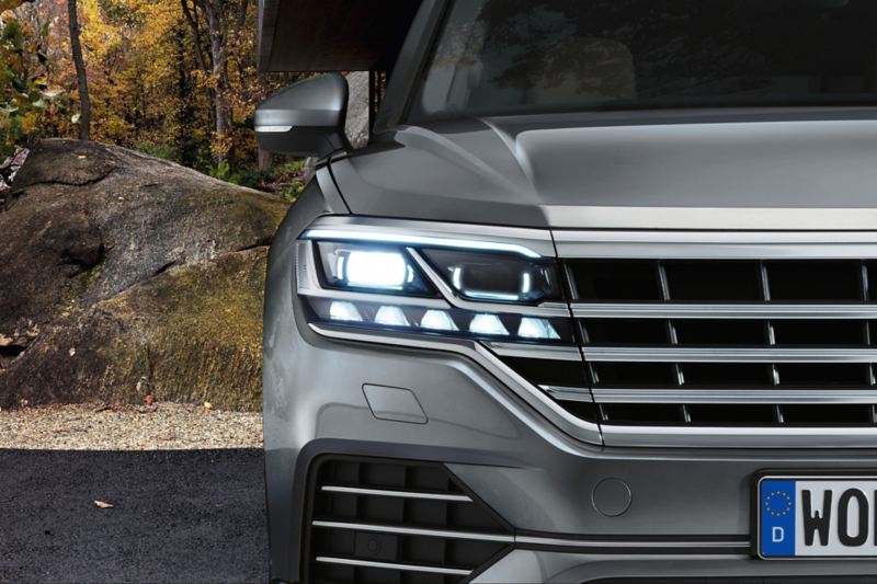Matrix LED headlights in the Touareg