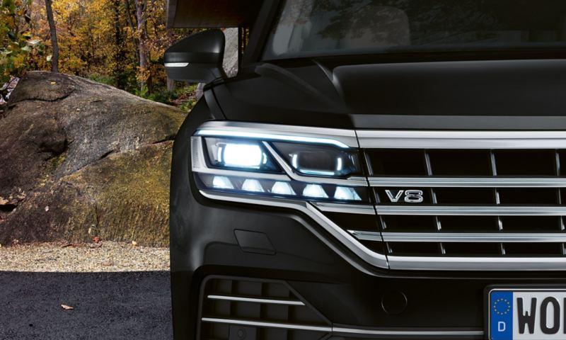 detaljerad frontbild Touareg V8TDI