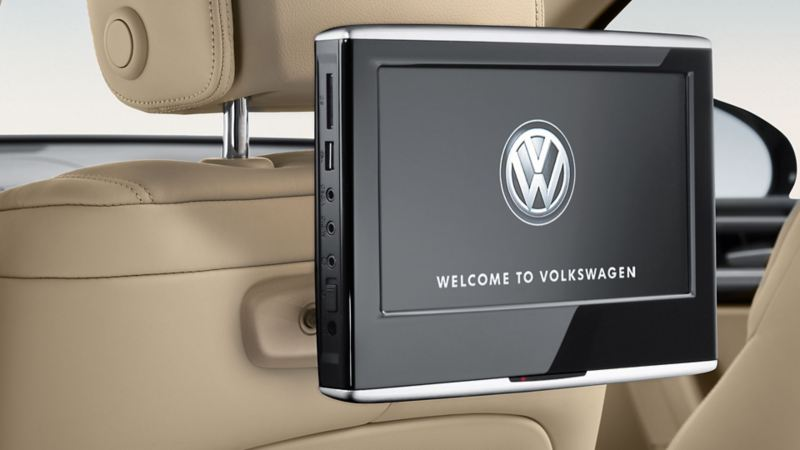 Graphic display of Rear Seat Entertainment screen in VW Touareg