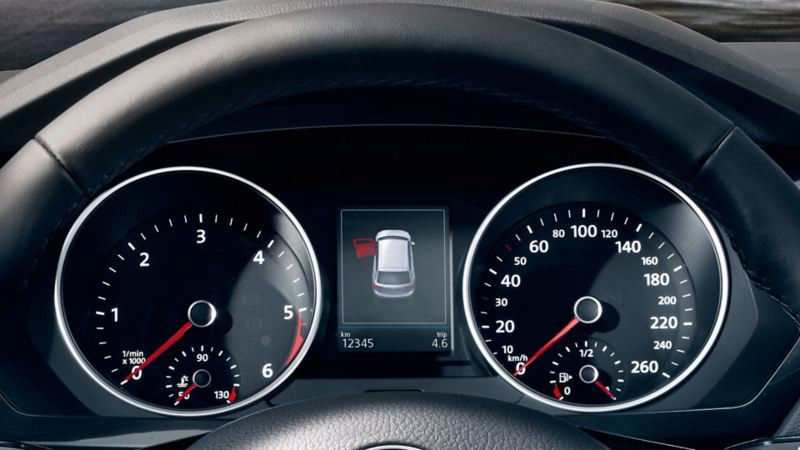 VW Tiguan with multifunction display