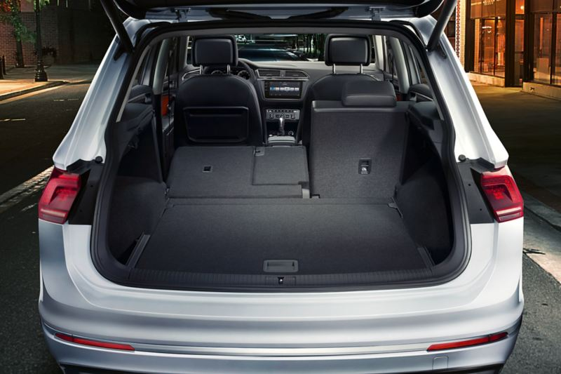 Tiguan boot interior space with rear seat folded