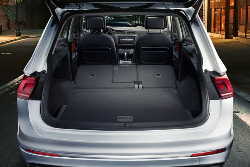 Tiguan boot interior space with both rear seats folded