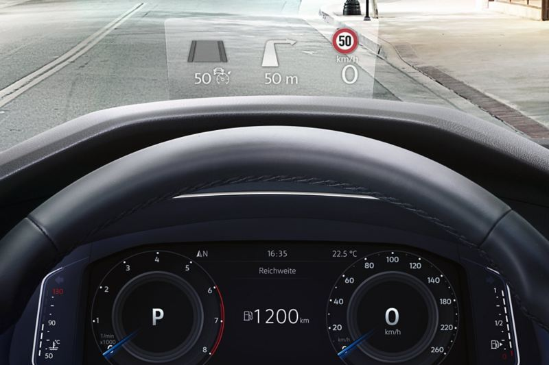 Head-up Display in the VW Tiguan Allspace