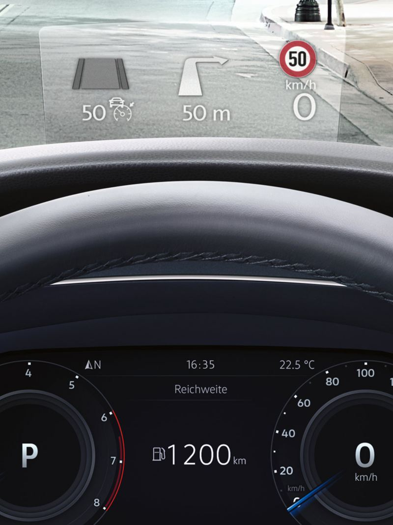 Head-up-Display im VW Tiguan Allspace