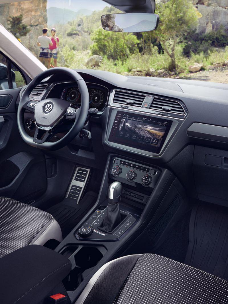 Intérieur de la VW Tiguan Offroad.