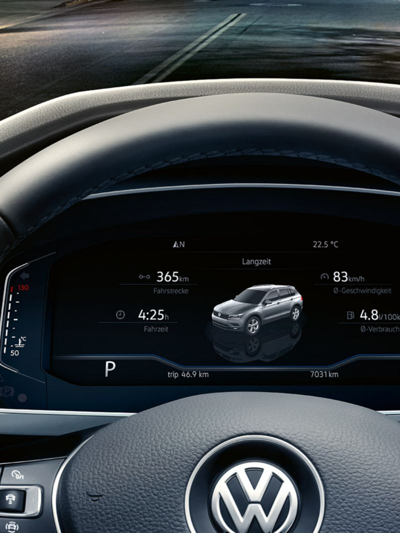 Active Info Display nel cruscotto del SUV Nuovo Tiguan