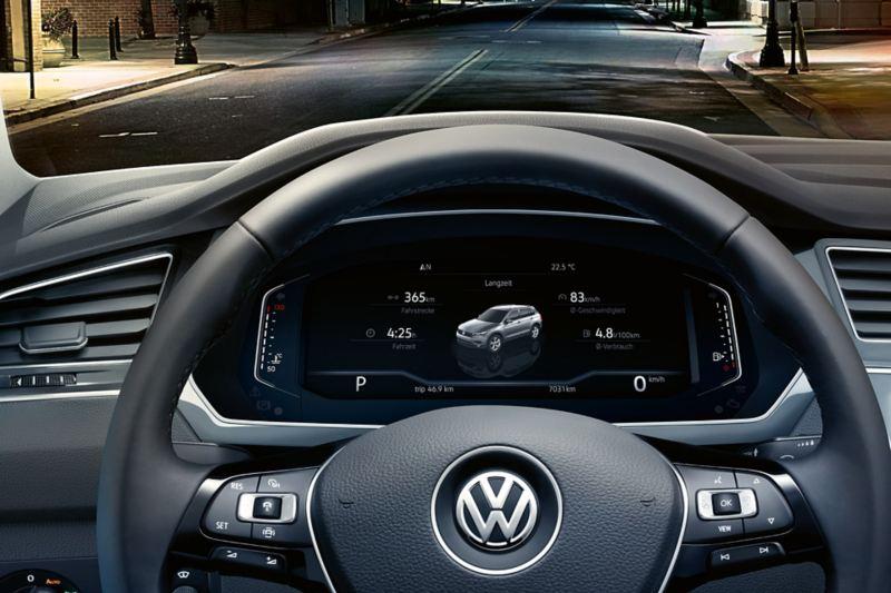 Données de la voiture sur l'Active Info Display