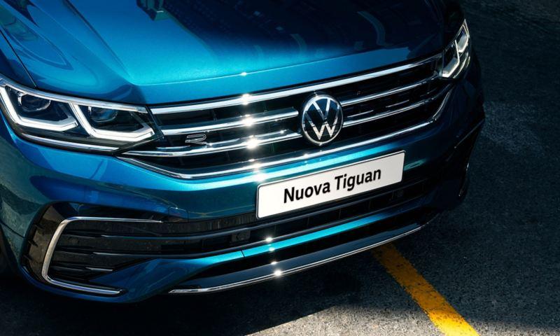 Volkswagen Nuova Tiguan particolare frontale