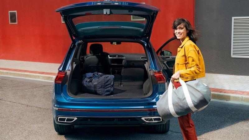 Volkswagen VW Tiguan romslig og stort bagasjerom