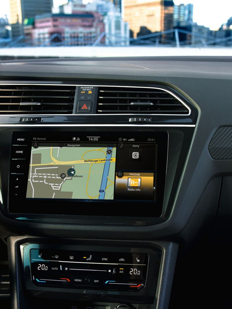Discover Pro navigation system of the VW Tiguan