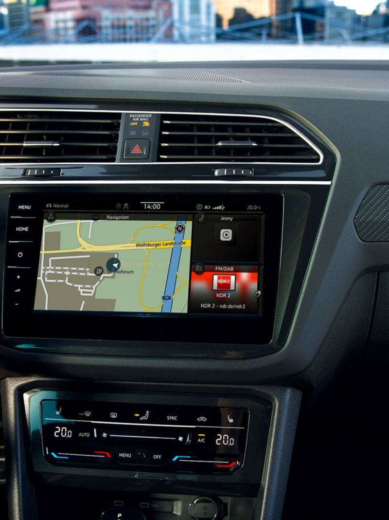 Discover Pro navigasjonssystem i VW Volkswagen Tiguan SUV