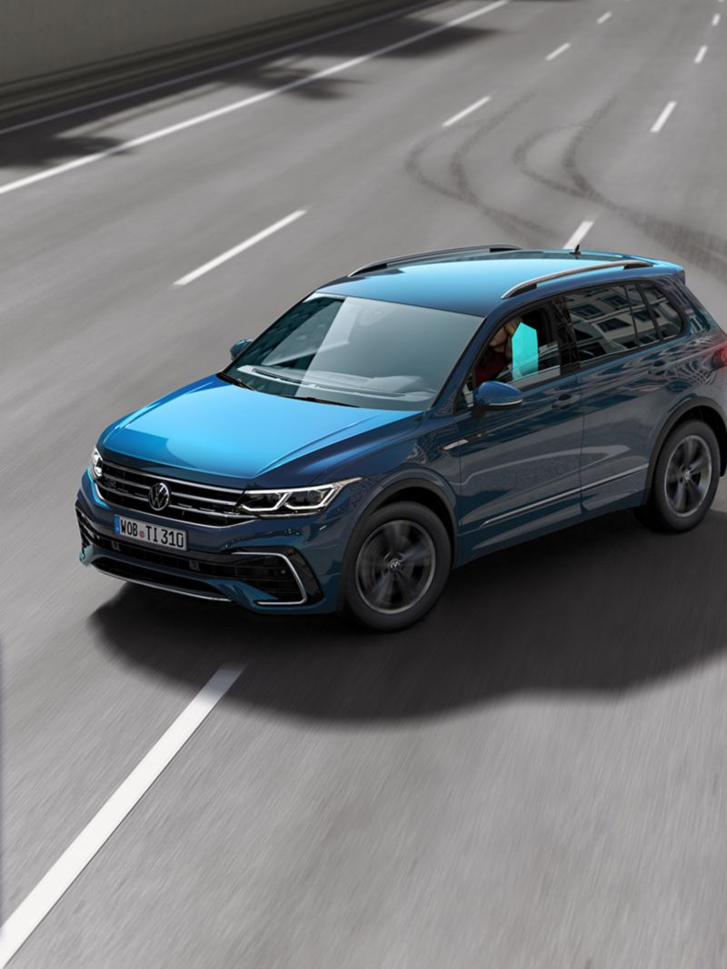 Graphic: Proactive occupant protection system of the VW Tiguan