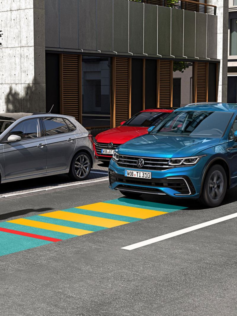 Illustrasjon: Front Assist i VW Volkswagen Tiguan