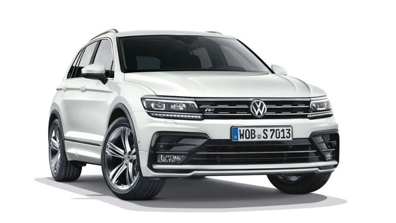 VW Tiguan Frontalansicht mit Mobilitätsreifen