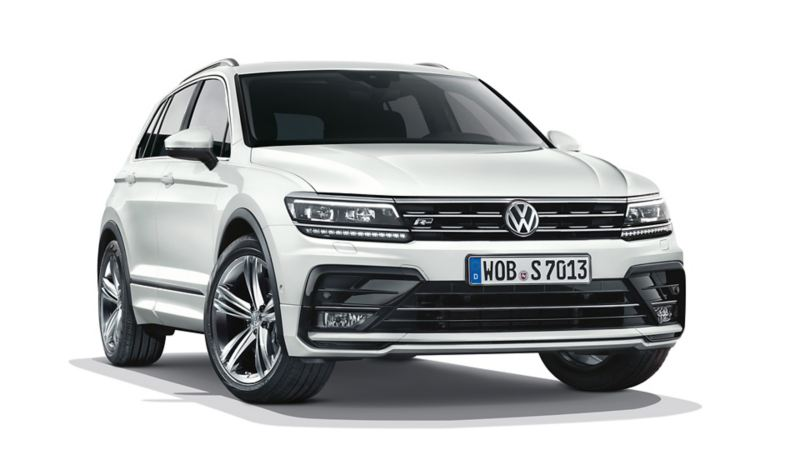 Front view of VW Tiguan with mobility tyres
