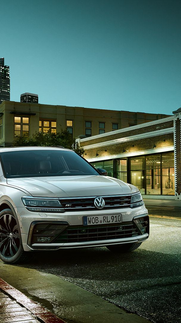 VW Tiguan R-Line parked in a street