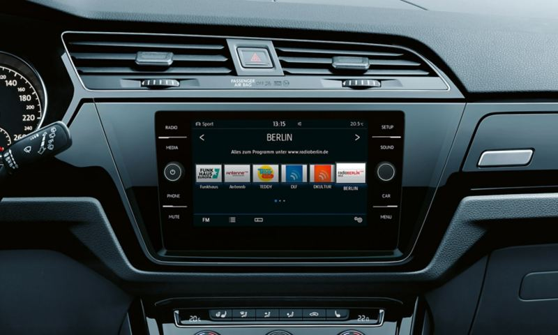 Radio i Volkswagen Touran