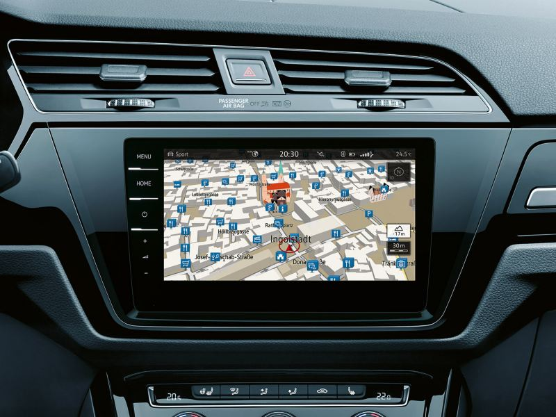 Discover Pro media system navigasjon i Volkswagen Touran