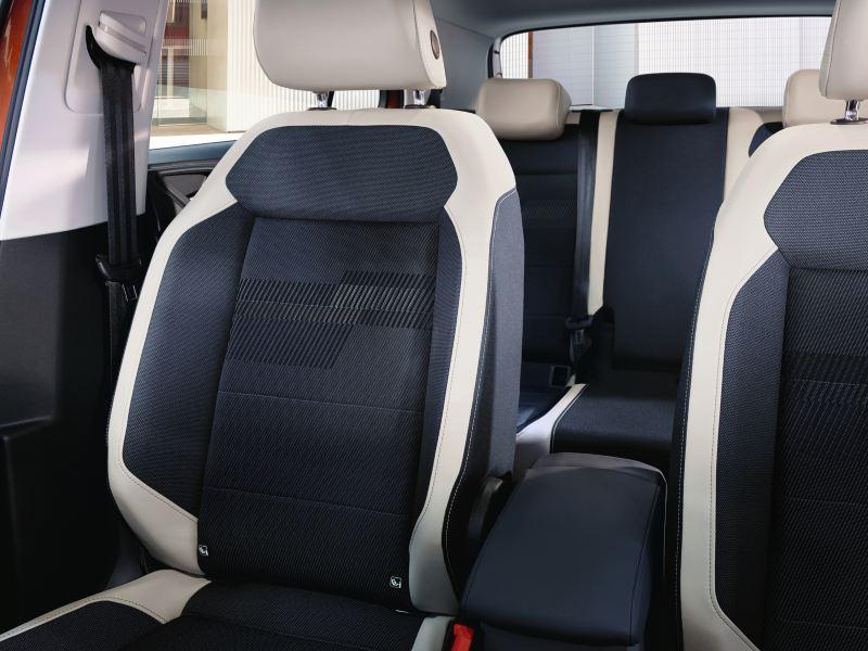 Vista sui sedili di Volkswagen T-Cross