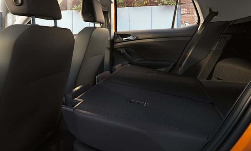 VW T-Cross with folded back seats