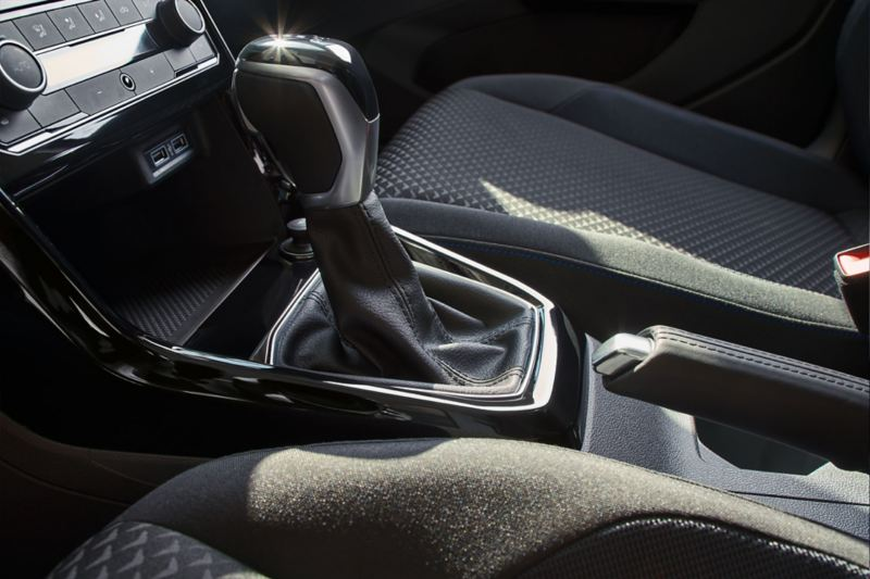 Center console of the VW T-Cross UNITED