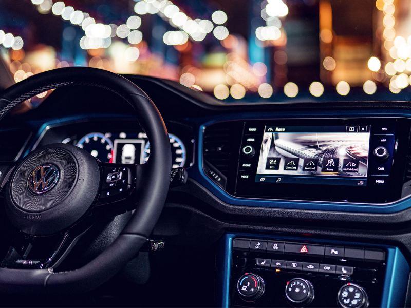 VW T-Roc R, detail rijprofielselectie