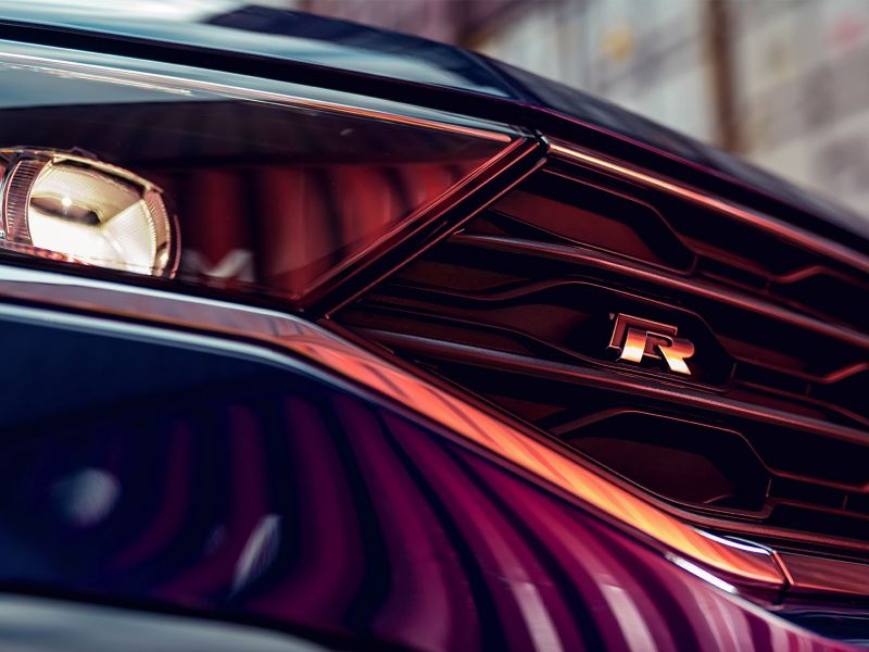 VW T-Roc R, detailbeeld vooraan