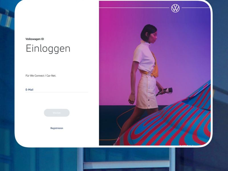Screenshot vom Volkswagen ID Login-Bereich