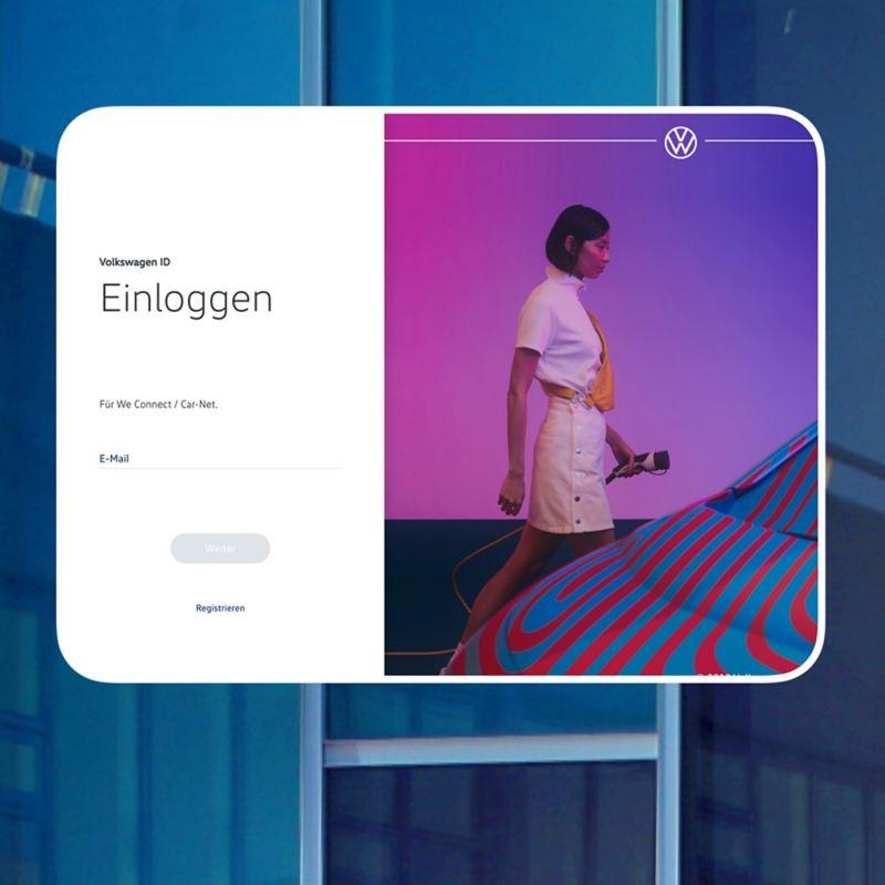 Screenshot vom Volkswagen ID Login-Bereich