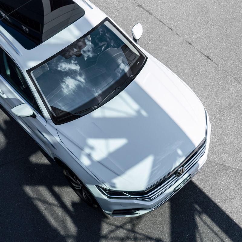 Vogelperspektive eines VW Touareg