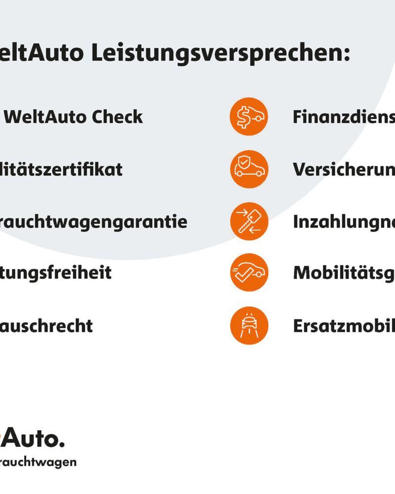 Übersicht WeltAuto Leistungsversprechen