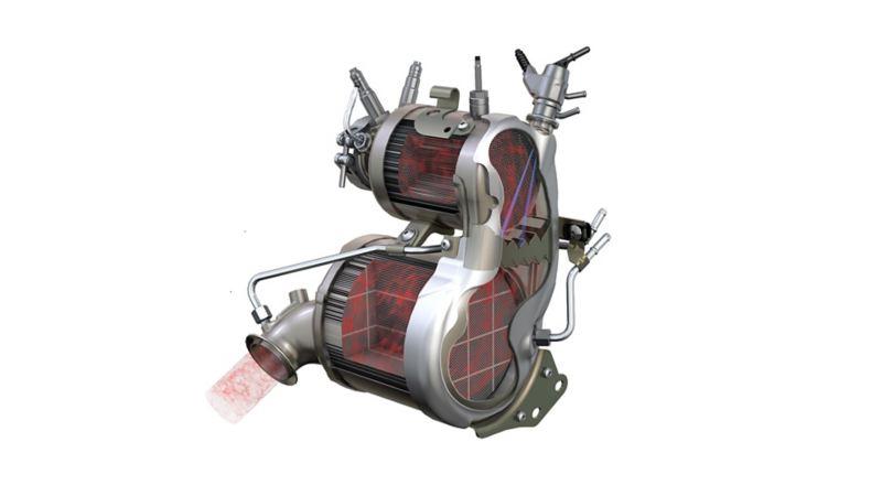 Abbildung des Volkswagen Oxidations-Katalysators