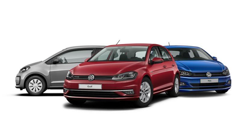 Drei Volkswagen Erdgas-Fahrzeuge
