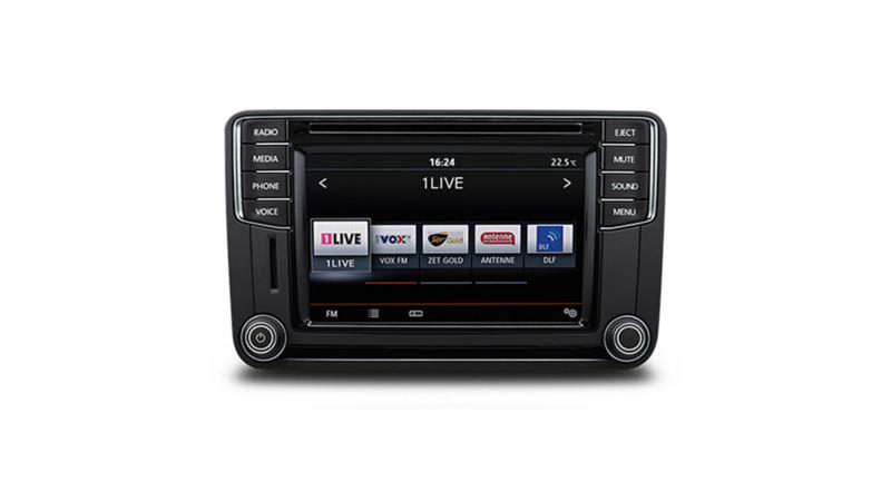 vw Volkswagen varebil Composition Media radiosystem radio infotainmentsystem