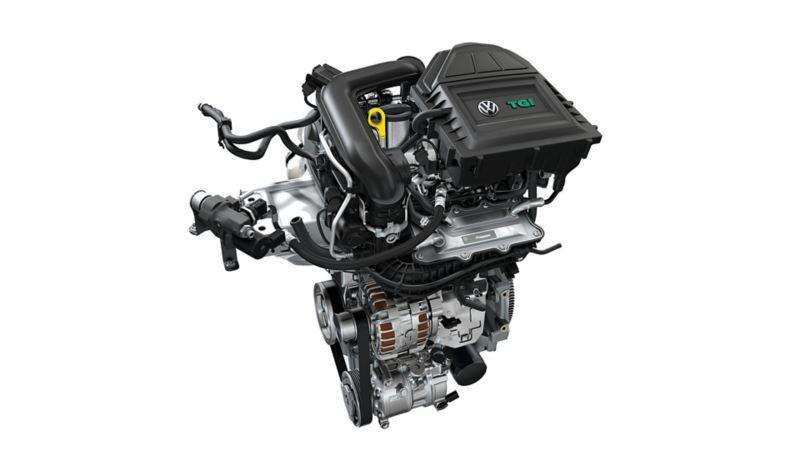Abbildung eines freigestellten Erdgas Motors