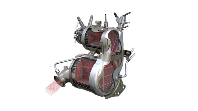 Image of a Volkswagen catalytic converter