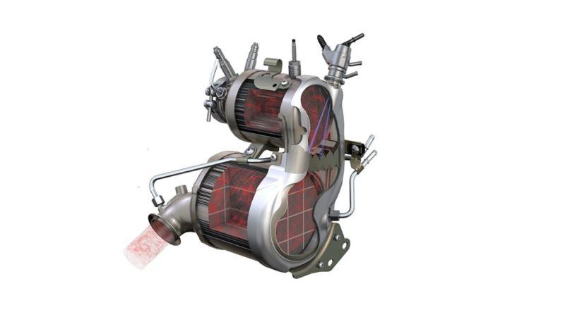 Image of a Volkswagen SCR catalytic converter