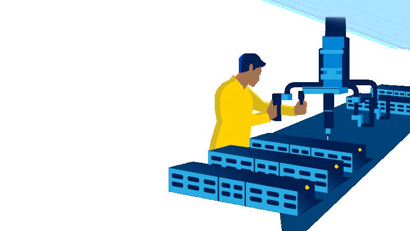 Fertigungsroboter für Elektroautos