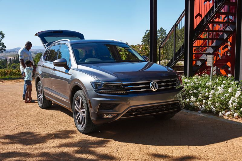 Tiguan parked outside house