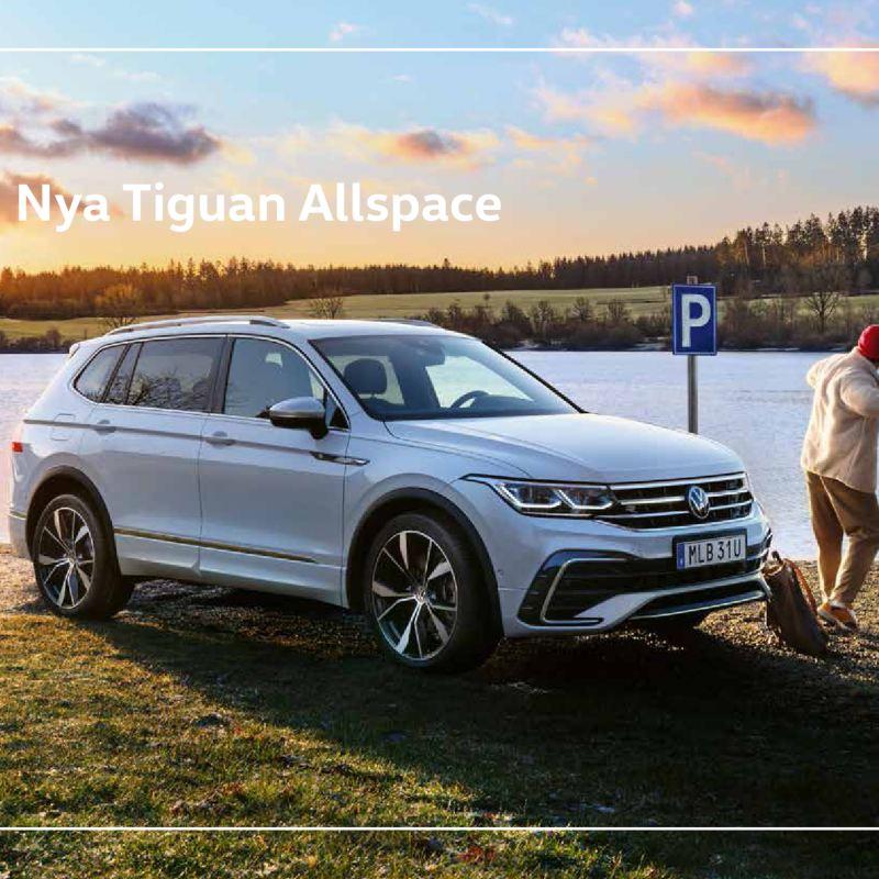 Volkswagen Tiguan i vinterlandskap