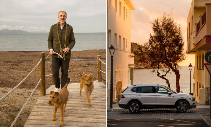 Thomas Niederste-Werbeck et ces chien + Tiguan