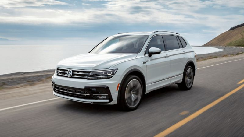 The 2021 Tiguan in action