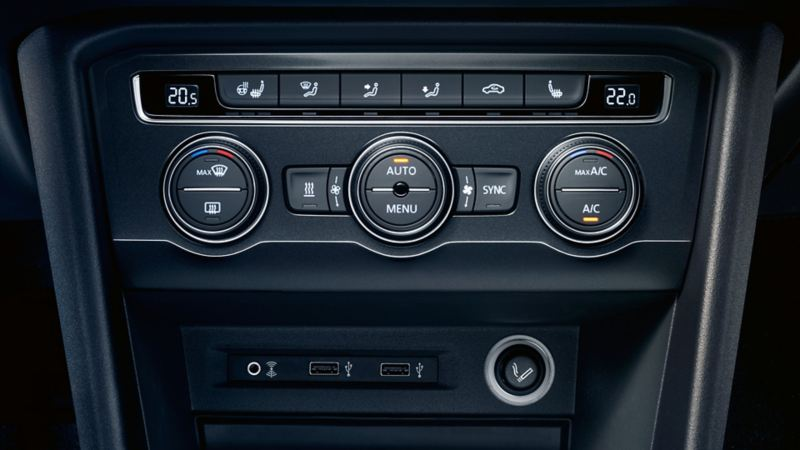 Image of the USB port in the VW Tiguan